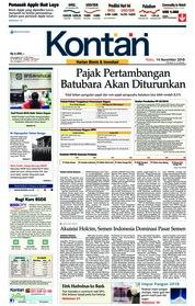 Cover Koran Kontan 14 November 2018