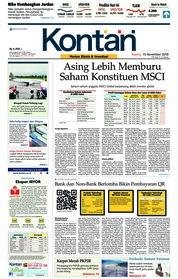 Cover Koran Kontan 15 November 2018