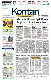 Cover Koran Kontan 21 November 2018