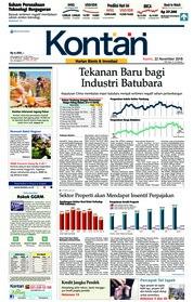 Cover Koran Kontan 22 November 2018