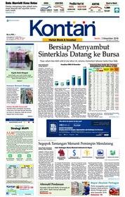Cover Koran Kontan 03 Desember 2018