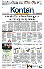 Cover Koran Kontan 04 Desember 2018