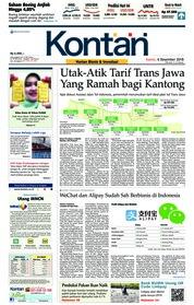 Cover Koran Kontan 06 Desember 2018