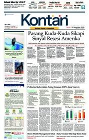 Cover Koran Kontan 10 Desember 2018