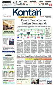 Cover Koran Kontan 11 Desember 2018