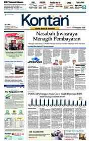 Cover Koran Kontan 13 Desember 2018