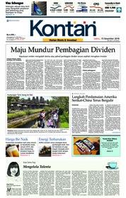 Cover Koran Kontan 15 Desember 2018