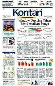 Cover Koran Kontan 17 Desember 2018