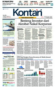 Cover Koran Kontan 19 Desember 2018