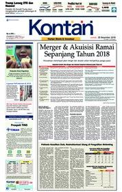 Cover Koran Kontan 28 Desember 2018