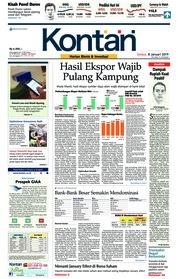 Cover Koran Kontan 08 Januari 2019