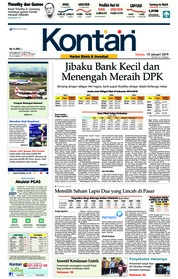 Cover Koran Kontan 15 Januari 2019