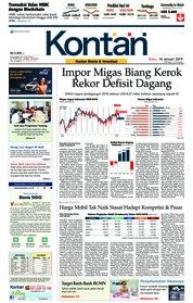 Cover Koran Kontan 16 Januari 2019