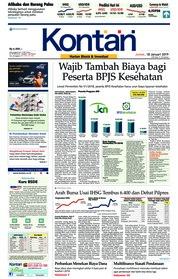 Cover Koran Kontan 18 Januari 2019