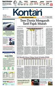 Cover Koran Kontan 22 Januari 2019