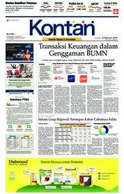Cover Koran Kontan 08 Februari 2019