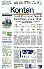 Cover Koran Kontan 11 Februari 2019