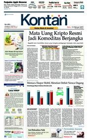 Cover Koran Kontan 13 Februari 2019