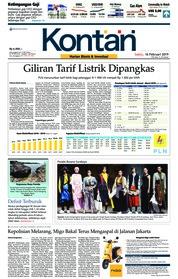 Cover Koran Kontan 16 Februari 2019