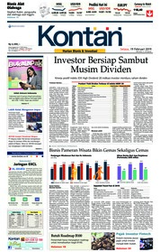 Cover Koran Kontan 19 Februari 2019