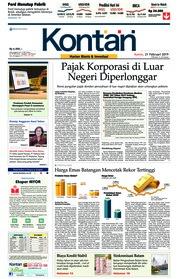 Cover Koran Kontan 21 Februari 2019