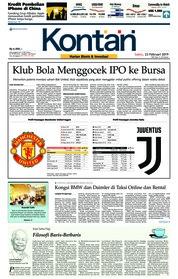 Cover Koran Kontan 23 Februari 2019