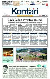 Cover Koran Kontan 16 Maret 2019