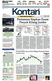 Cover Koran Kontan 18 Maret 2019