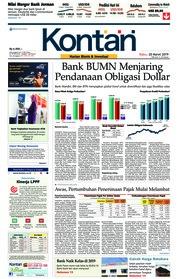 Cover Koran Kontan 20 Maret 2019