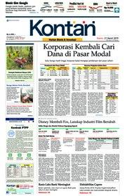 Cover Koran Kontan 21 Maret 2019