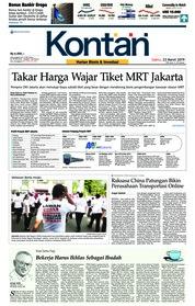 Cover Koran Kontan 23 Maret 2019
