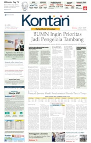 Cover Koran Kontan 02 April 2019
