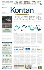 Cover Koran Kontan 08 April 2019