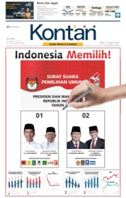 Cover Koran Kontan 17 April 2019