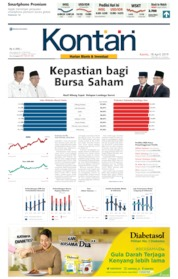 Cover Koran Kontan 18 April 2019