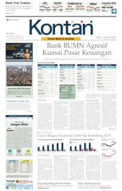 Cover Koran Kontan 24 April 2019
