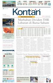 Cover Koran Kontan 10 Mei 2019