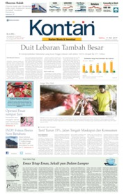 Cover Koran Kontan 11 Mei 2019