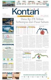 Cover Koran Kontan 13 Mei 2019