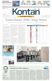 Cover Koran Kontan 18 Mei 2019