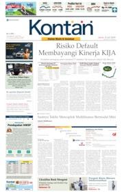 Cover Koran Kontan 08 Juli 2019