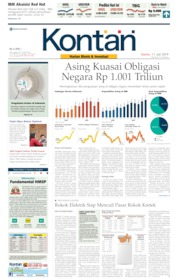 Cover Koran Kontan 11 Juli 2019
