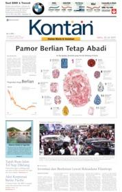 Cover Koran Kontan 20 Juli 2019