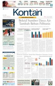 Cover Koran Kontan 24 Juli 2019