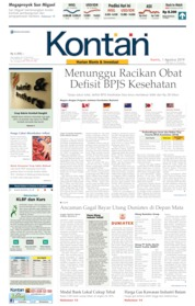 Koran Kontan Cover 01 August 2019