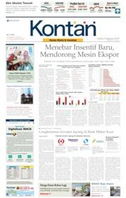 Cover Koran Kontan 08 Agustus 2019