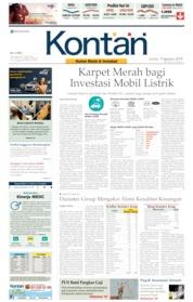 Cover Koran Kontan 09 Agustus 2019