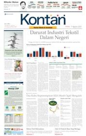 Cover Koran Kontan 13 Agustus 2019
