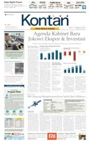 Cover Koran Kontan 15 Agustus 2019