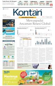 Cover Koran Kontan 16 Agustus 2019
